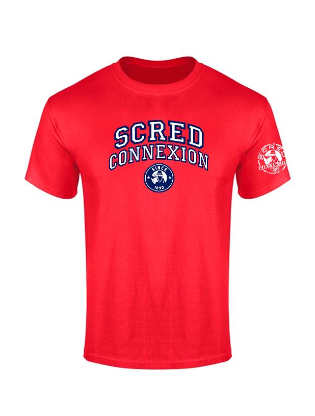 Tshirt Scred University Rouge de scred connexion sur Scredboutique.com