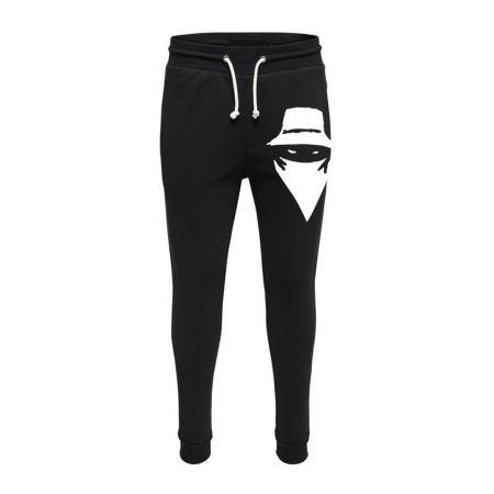 Pantalon de Jogging Noir Grand visage