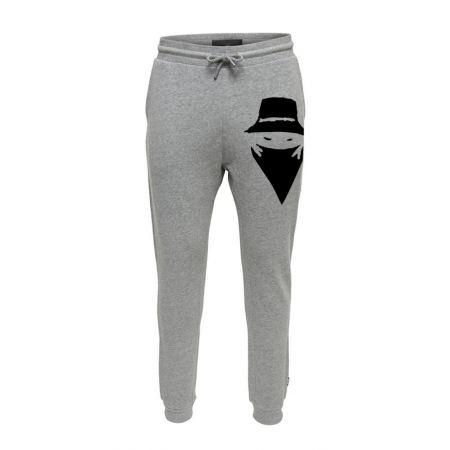 Pantalon de Jogging Gris Grand visage