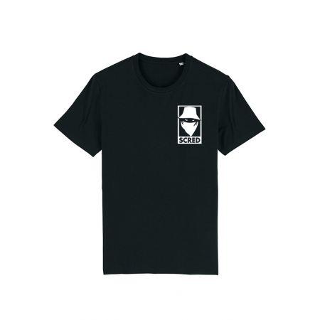 T Shirt Noir Visage Box