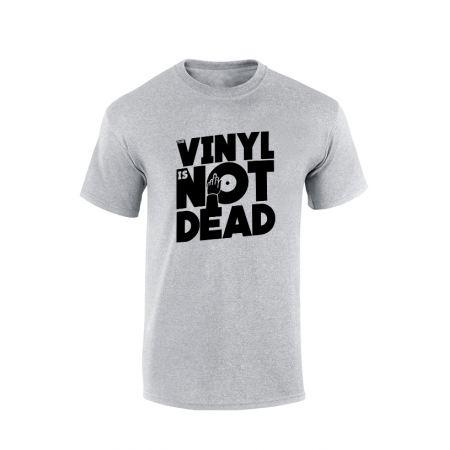 Tshirt Vinyl is not dead gris