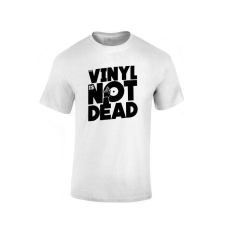 Tshirt Vinyl is not dead blanc