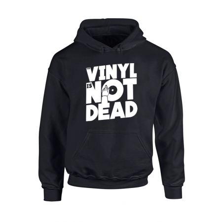 Sweat Capuche Vinyl is not dead noir