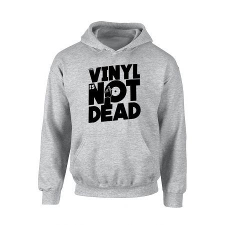 Sweat Capuche Vinyl is not dead Gris