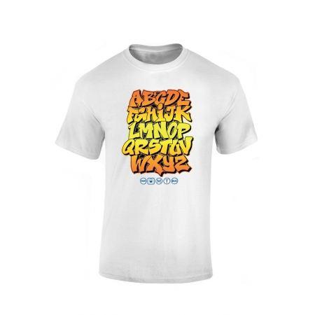 Tshirt Alphabet Graff Blanc
