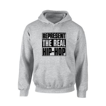 Sweat Capuche Represent Real HH Gris