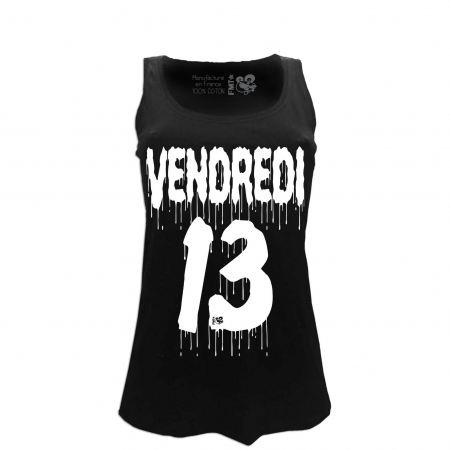 t-shirt femme noir filante vendredi 13