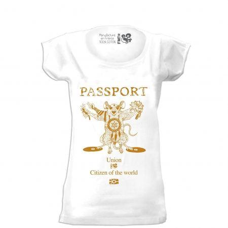 t-shirt femme passeport  filante
