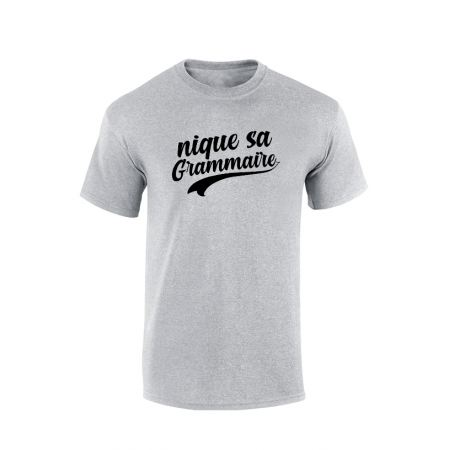 T-shirt Amadeus Grammaire Gris