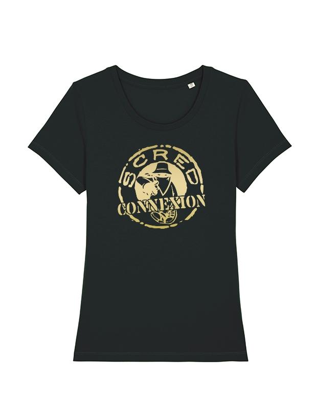 Tshirt Femme Noir Classico OR de scred connexion sur Scredboutique.com