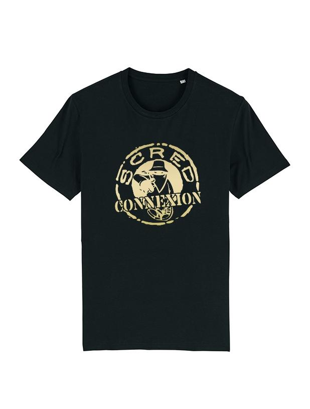 Tshirt Noir Classico Or de scred connexion sur Scredboutique.com