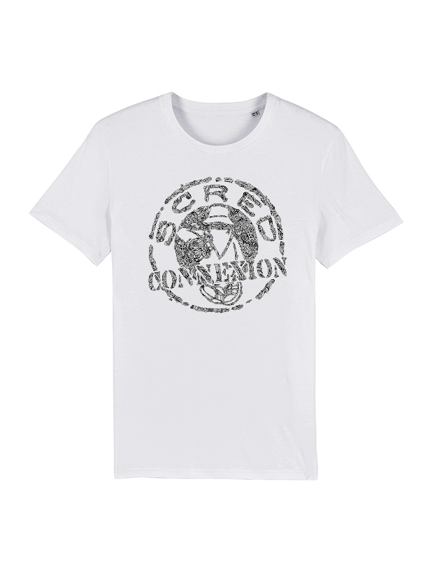 Tshirt Classico blanc x Kamestria de scred connexion sur Scredboutique.com