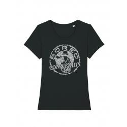 Tshirt Classico noir femme x Kamestria de scred connexion sur Scredboutique.com