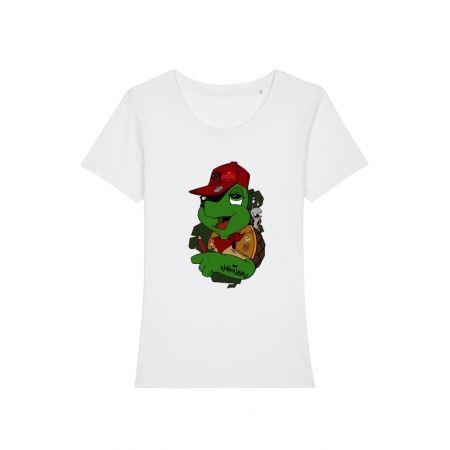 Tshirt Femme Franklin x TRN Blanc