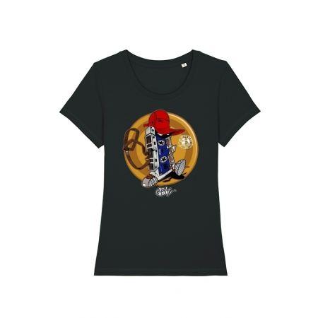 Tshirt Femme Cassette x TRN Noir
