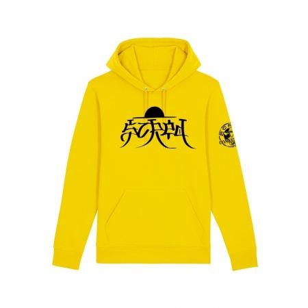 Sweat Capuche Scred x TRN jaune