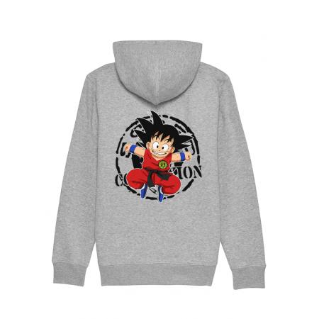 Sweat Zip enfant Goku gris