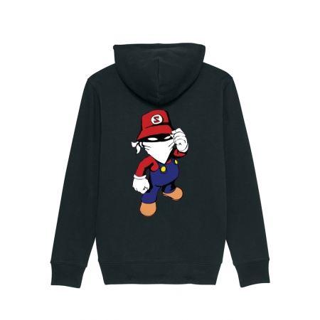 Sweat Zip enfant Mario noir