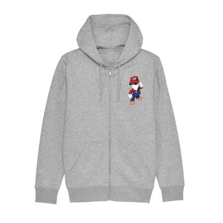 Sweat Zip enfant Mario gris