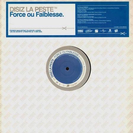 """Maxi Vinyle """"Disiz la peste - Force ou Faiblesse / Rap Music"""""""