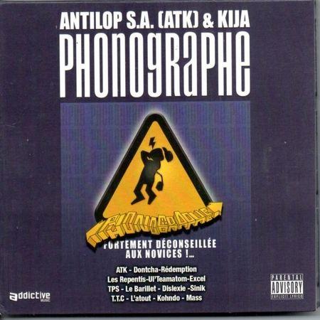 "Album Cd ""Antilop S.a (Atk) & Kija - Phonographe"""