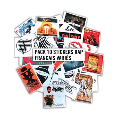 Pack 10 Stickers Rap Francais Variés