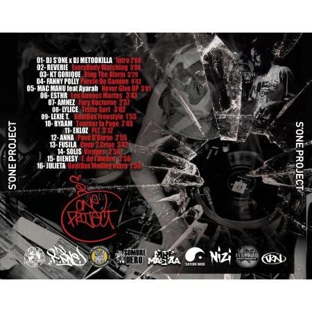 "Album Cd ""Dj S'One et Dj Metodkilla - S'One Project"""