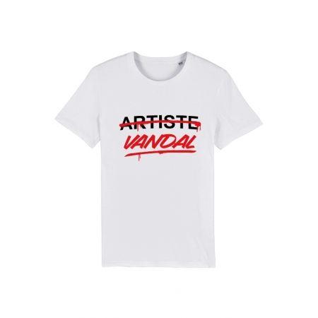 Tshirt Artiste Vandal Blanc