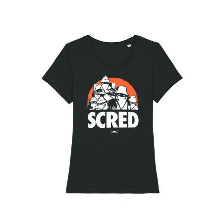 T Shirt Femme Scred Perso Noir