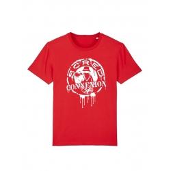T Shirt Classico Splash Rouge de scred connexion sur Scredboutique.com