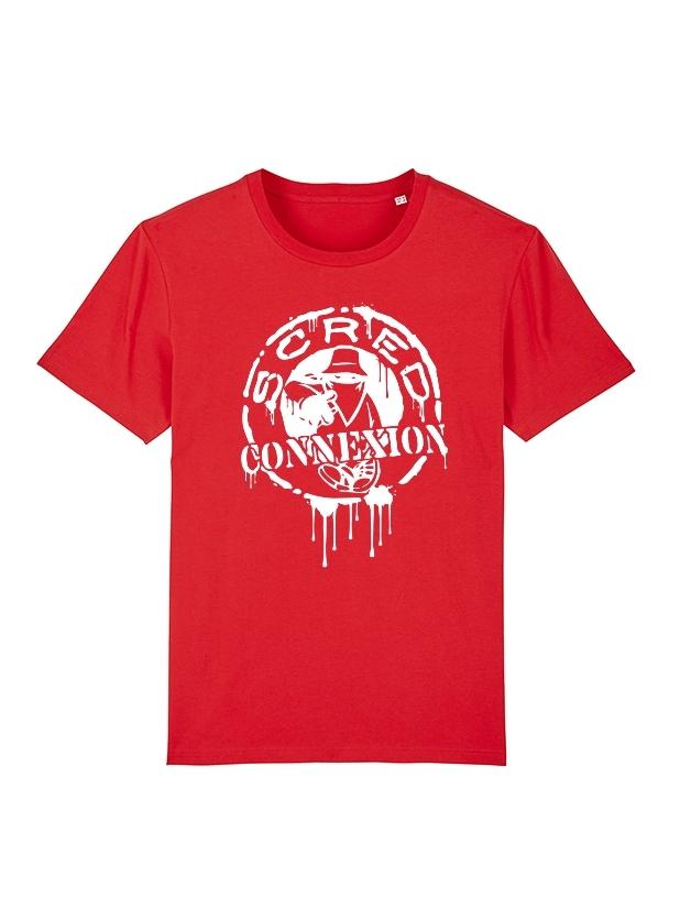T Shirt Classico Splash Rouge