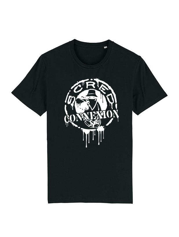 T Shirt Classico Splash Noir de scred connexion sur Scredboutique.com