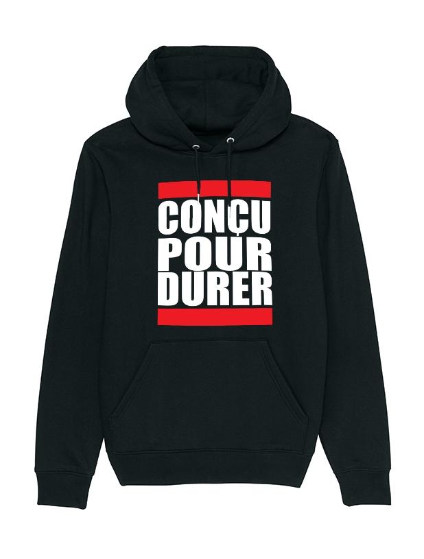 Sweat capuche Concu pour durer de anonymous label sur Scredboutique.com