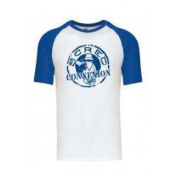 Tshirt Bicolore Scred Classico blanc bleu de scred connexion sur Scredboutique.com