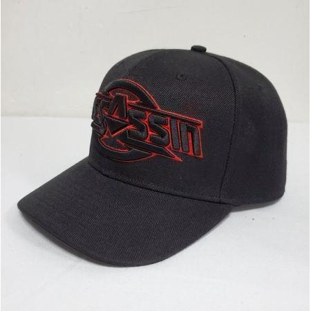 casquette assassin noir et rouge 3D